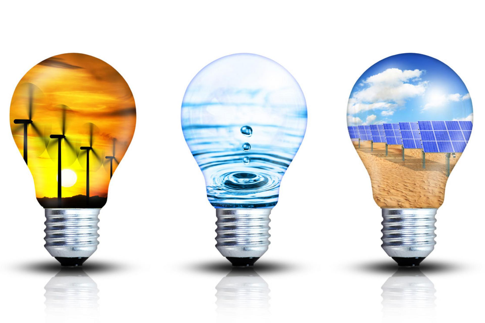 light-bulbs symbolizing clean energy